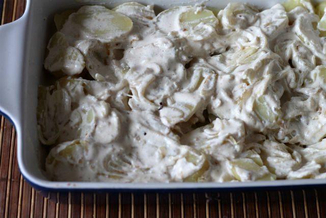 картофельная запеканка со сливками