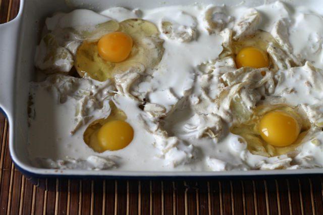картофельная запеканка с яйцами