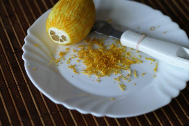 как снять цедру с лимона