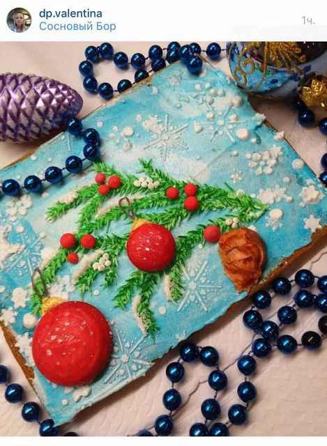 новогодний декор пряников